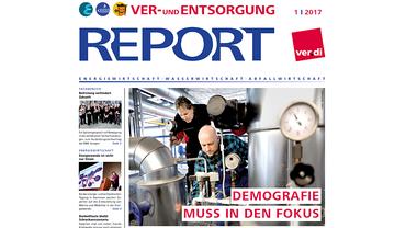 Report Ver- und Entsorgung, Cover Ausgabe 01/2017