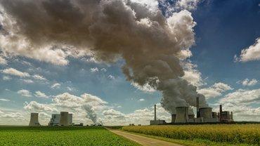 Kohlekraftwerk auf der grünen Wiese